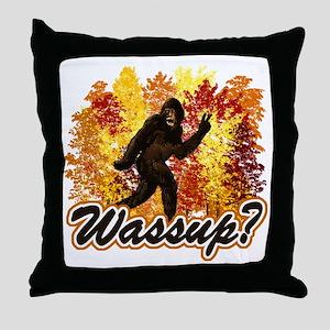 Whats Up Bigfoot Sasquatch Throw Pillow