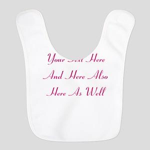 Customizable Personalized Text Polyester Baby Bib