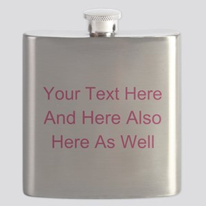 Customizable Personalized Text (Fuschia/Pink Flask