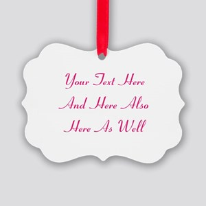 Customizable Personalized Text (F Picture Ornament
