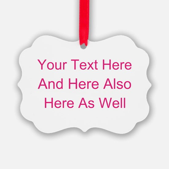 Customizable Personalized Text (F Ornament