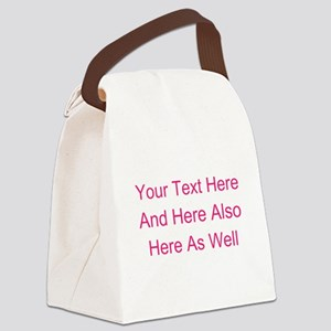 Customizable Personalized Text (F Canvas Lunch Bag