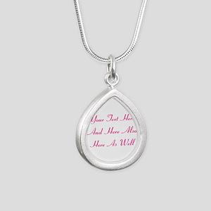 Customizable Personalize Silver Teardrop Necklace