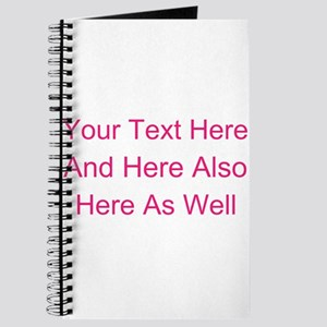 Customizable Personalized Text (Fuschia/Pi Journal