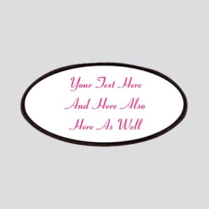 Customizable Personalized Text (Fuschia/Pink Patch