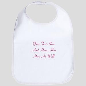 Customizable Personalized Text (Fu Cotton Baby Bib