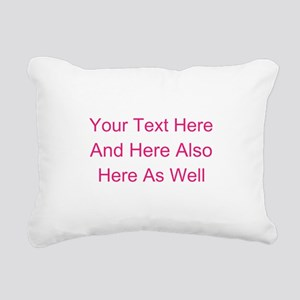 Customizable Personalize Rectangular Canvas Pillow