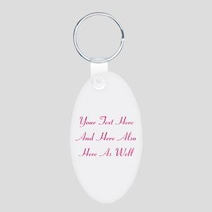 Customizable Personalized T Aluminum Oval Keychain