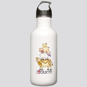 I Love Country Stainless Water Bottle 1.0L