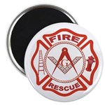 Masonic Fire & Rescue Magnet