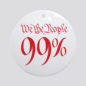 we the people 99% red Ornament (Round)