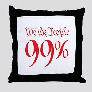 we the people 99% red Throw Pillow