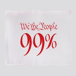 we the people 99% red Throw Blanket