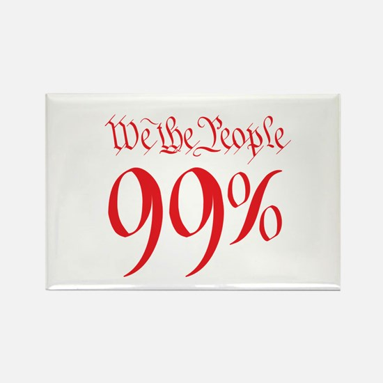 we the people 99% red Rectangle Magnet