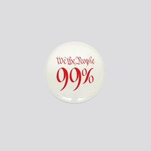 we the people 99% red Mini Button