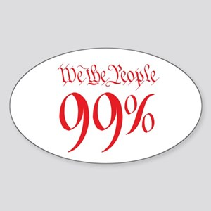 we the people 99% red Sticker (Oval)