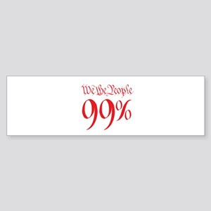 we the people 99% red Sticker (Bumper)