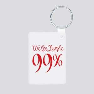 we the people 99% red Aluminum Photo Keychain