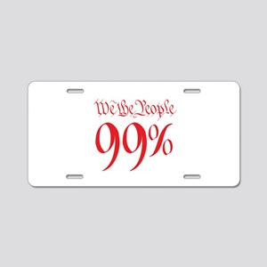 we the people 99% red Aluminum License Plate