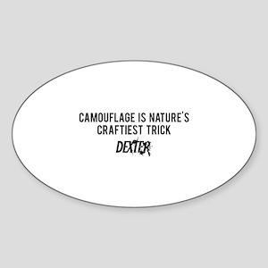 Camouflage Dexter Sticker (Oval)