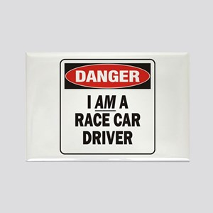 Race Driver Rectangle Magnet