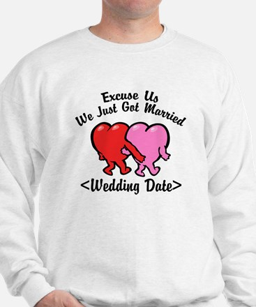 Funny Just Married (Add Wedding Date) Sweatshirt