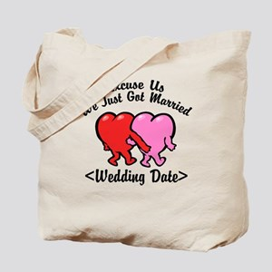 Funny Just Married (Add Wedding Date) Tote Bag