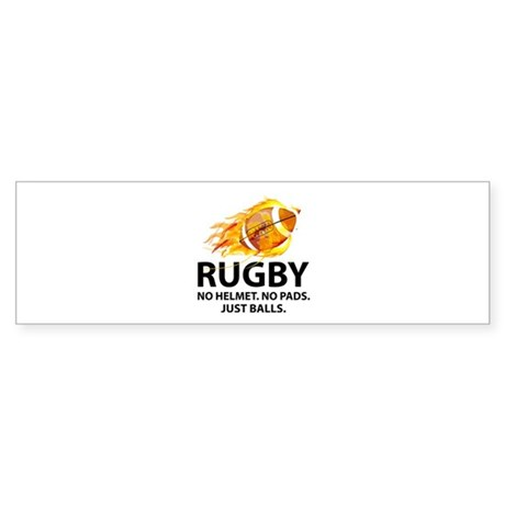 Rugby Just Balls Sticker (Bumper)