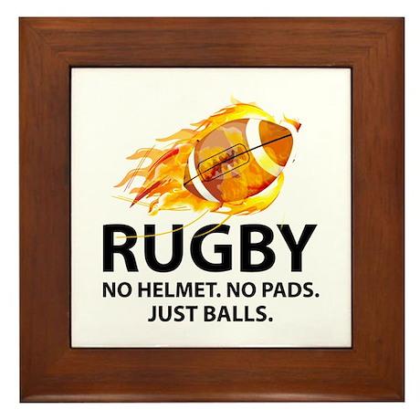 Rugby Just Balls Framed Tile
