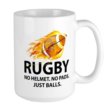 Rugby Just Balls Large Mug