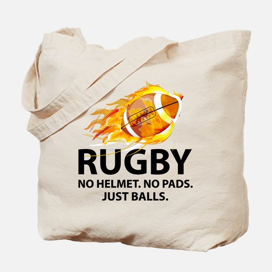 Rugby Just Balls Tote Bag