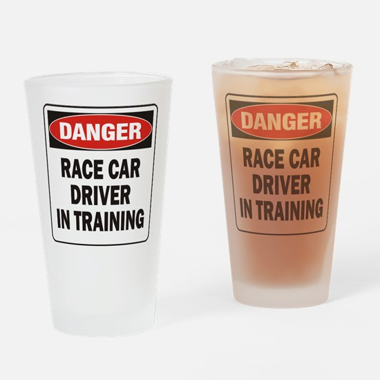 Race Driver Drinking Glass
