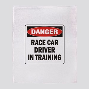 Race Driver Throw Blanket