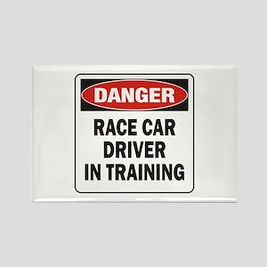 Race Driver Rectangle Magnet