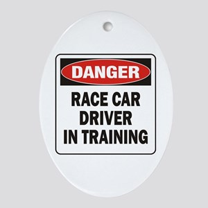 Race Driver Ornament (Oval)