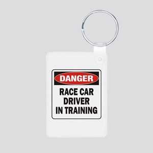 Race Driver Aluminum Photo Keychain