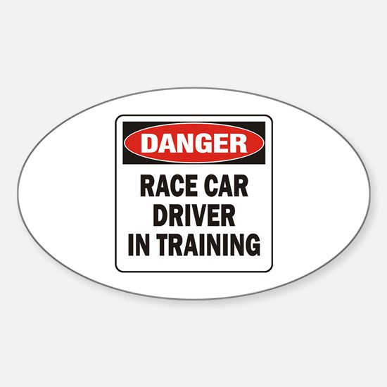 Race Driver Sticker (Oval)