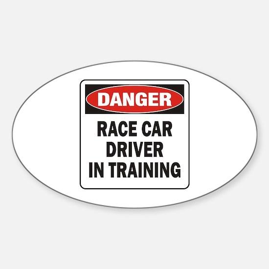 Race Driver Sticker (Oval)