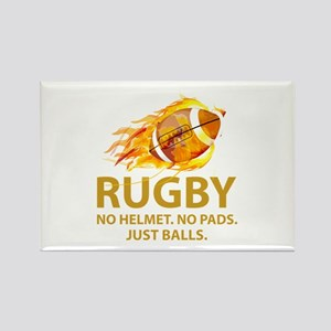 Rugby Just Balls Rectangle Magnet