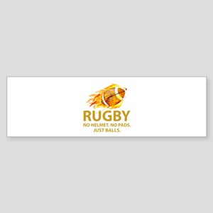 Rugby Just Balls Sticker (Bumper)