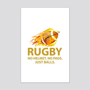 Rugby Just Balls Mini Poster Print
