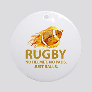 Rugby Just Balls Ornament (Round)