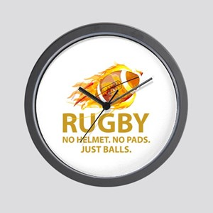 Rugby Just Balls Wall Clock