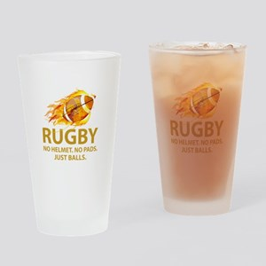 Rugby Just Balls Drinking Glass