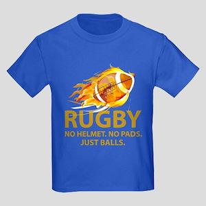 Rugby Just Balls Kids Dark T-Shirt