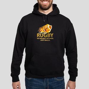 Rugby Just Balls Hoodie (dark)