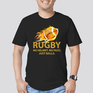 Rugby Just Balls Men's Fitted T-Shirt (dark)