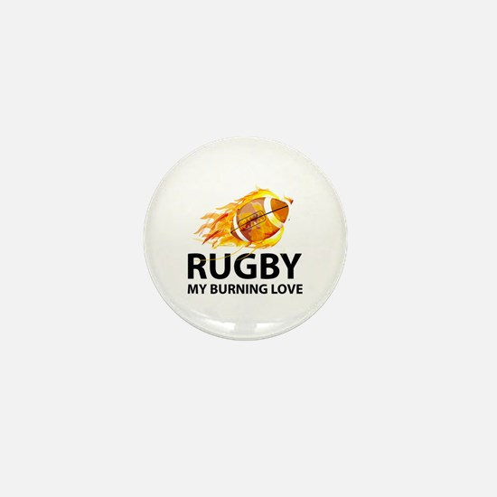 Rugby My Burning Love Mini Button
