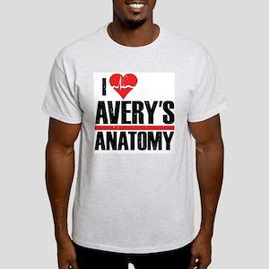 I Heart Avery's Anatomy Light T-Shirt