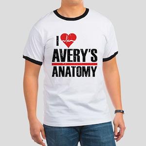 I Heart Avery's Anatomy Ringer T-Shirt